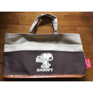 ピーナッツ(PEANUTS)のスヌーピー ポケット付きミニバッグ(トートバッグ)