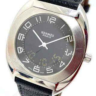 エルメス(Hermes)のエルメス ES1.710 デジタル エスパス クオーツ メンズ腕時計 シルバー(腕時計(アナログ))