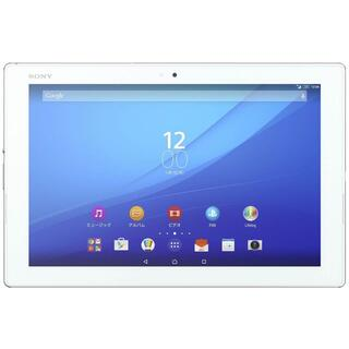 ソニー(SONY)の美品A☆SIMフリー☆ Xperia Z4 Tablet SOT31 ホワイト(タブレット)