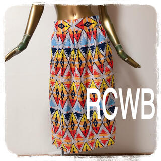 ロデオクラウンズワイドボウル(RODEO CROWNS WIDE BOWL)のRCWB ♥ 総柄 エスニック オルテガ 薄手 スカート(ロングスカート)