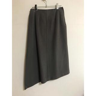 ハイク(HYKE)の【未着用タグ付き】HYKE ウールスカート サイズ2 トープ グレージュ(ひざ丈スカート)