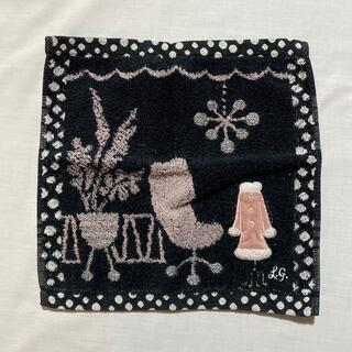LULU GUINNESS - ルルギネス タオルハンカチ 中古品 ブラック #1020