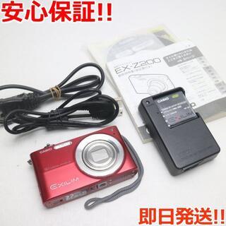 カシオ(CASIO)の美品 EX-Z200 レッド (コンパクトデジタルカメラ)