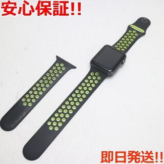 アップル(Apple)の美品 Apple Watch 42mm ブラック (その他)