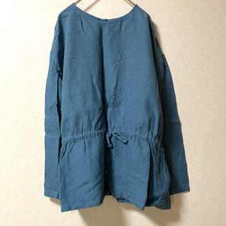 イデー(IDEE)のIDEE POOL いろいろの服 無印良品 リネン ブラウス ブルー(シャツ/ブラウス(長袖/七分))