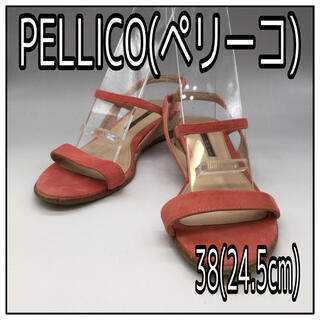 PELLICO - ペリーコ レディース サンダル ストラップ ウエッジソール スエード ピンク 靴