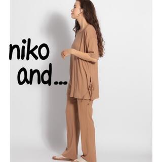 ニコアンド(niko and...)のniko and... セットアップ(カットソー(半袖/袖なし))