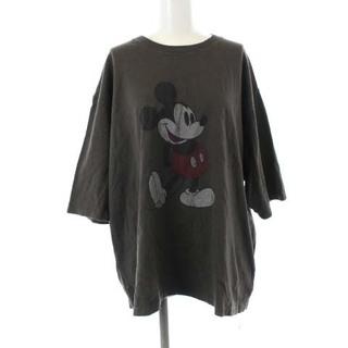 フレームワーク(FRAMeWORK)のフレームワーク 20AW カットソー Tシャツ 半袖 プリント 茶色 ブラウン(Tシャツ/カットソー(半袖/袖なし))