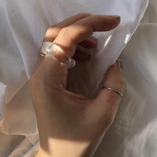 カスタネ(Kastane)のyurika akutsu clear glass ring(リング(指輪))