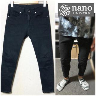 ナノユニバース(nano・universe)のnano univers黒パンツブラックパンツスキニーパンツチノパンメンズ(チノパン)
