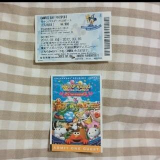 Disney - ディズニーランド ユニバーサルスタジオジャパン 使用済み パスポート チケット