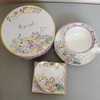 Disney - ディズニー プリンセス ラプンツェル カップ ティーカップ ソーサー 小皿