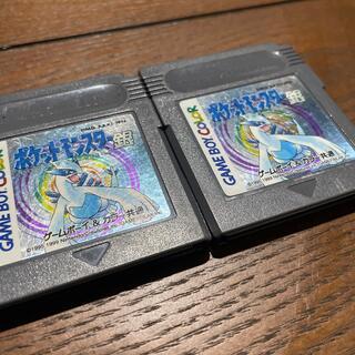 ゲームボーイ(ゲームボーイ)のゲームボーイ&カラー共通 ポケットモンスター銀2個(携帯用ゲームソフト)