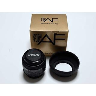 Nikon - 【美品】NIKKOR AF 50mm F1.4N フード付 日本製