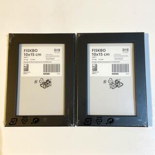 イケア(IKEA)のFISKBO フィスクボー フレーム ブラック 2個(フォトフレーム)
