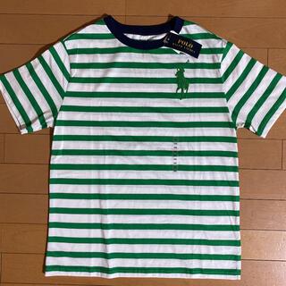 ラルフローレン(Ralph Lauren)の新品タグ付き ラルフローレン ビッグポニーボーダーTシャツ160(メンズS相当)(Tシャツ/カットソー)