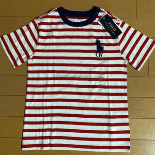 ラルフローレン(Ralph Lauren)の新品タグ付き ラルフローレン ビッグポニーボーダーTシャツ 130(Tシャツ/カットソー)