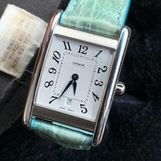 コーチ(COACH)のコーチ  角型時計  クォーツ式(美品中古)(腕時計(アナログ))
