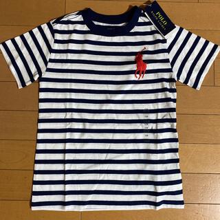 ラルフローレン(Ralph Lauren)の新品タグ付き ラルフローレン ビッグポニーボーダーTシャツ 120(Tシャツ/カットソー)
