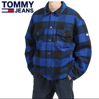 トミーヒルフィガー(TOMMY HILFIGER)のTOMMYJEANS プレイドチェックトラッカージャケット(ブルゾン)