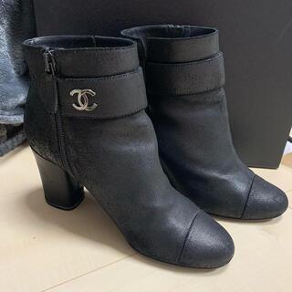 シャネル(CHANEL)のCHANEL 靴 ブーティ 黒 37c(ブーティ)