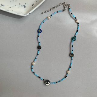 トーガ(TOGA)のoriginal beads necklace2 インヤン ミルフィオリ(ネックレス)