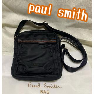 ポールスミス(Paul Smith)のポールスミスショルダーバッグ マルチストライプステッチ 黒 クロ(ショルダーバッグ)