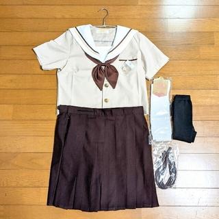 茶色 ブラウン セーラー服 制服セット コスプレ衣装(衣装一式)