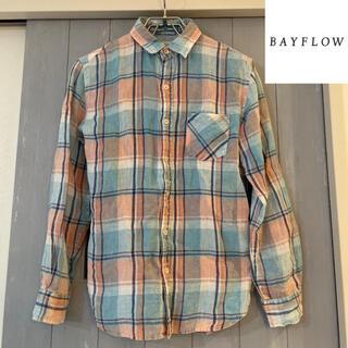 ベイフロー(BAYFLOW)の大人気 ベイフロー ネルシャツ 美品(シャツ)