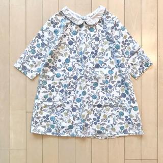 Bonpoint - little cotton clothes 花柄 襟付きワンピース(5-6Y)