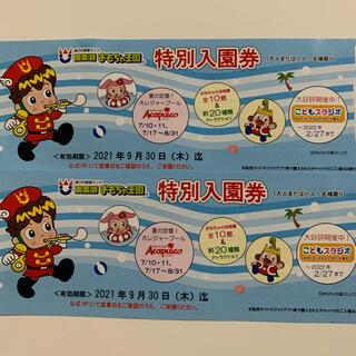 東条湖おもちゃ王国 特別入園券(遊園地/テーマパーク)