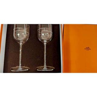 エルメス(Hermes)のhermesエルメスのワイングラス 繊細なデザイン 食卓にエレガントな演出(グラス/カップ)