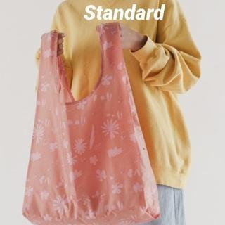 BAGGU エコバッグ スタンダード サンプリントフラワー ピンク 新品未使用(エコバッグ)