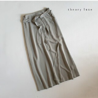 セオリーリュクス(Theory luxe)のセオリーリュクス■ラップ スカート ウエストリボン カーキ(ロングスカート)