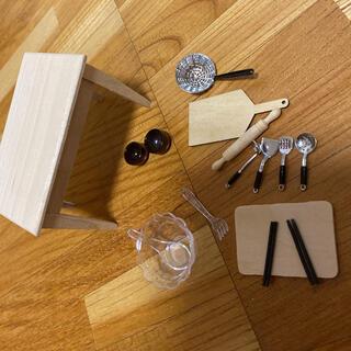 新品 ミニチュア キッチンツール 調理器具 まな板 ミニチュアハウス(ミニチュア)