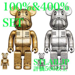 メディコムトイ(MEDICOM TOY)の金銀セット BE@RBRICK SORAYAMA BAPE 100%&400%(その他)