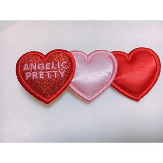 Angelic Pretty - angelic  pretty trio heart クリップ ピンク×アカ