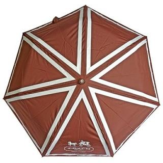 コーチ(COACH)のCOACH 非売品 折り畳み傘 ブラウン ☆新品未使用☆(傘)