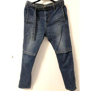 sacai - Sacai 19SS 裾ジップベルテッドデニムパンツ サイズ1