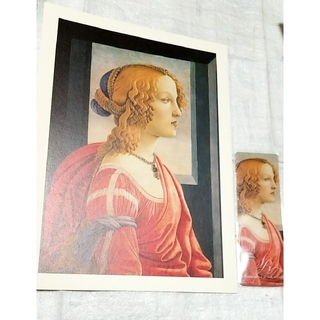 ボッティチェリ 美しきシモネッタ プリント画とブックマーカー(印刷物)