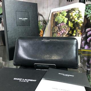 サンローラン(Saint Laurent)のSaint Laurent Paris 財布 サンローラン ブラック スタッズ(長財布)