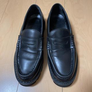 ハレ(HARE)のハレHARE アツゾコソールコインローファー  黒 ブラック(ドレス/ビジネス)
