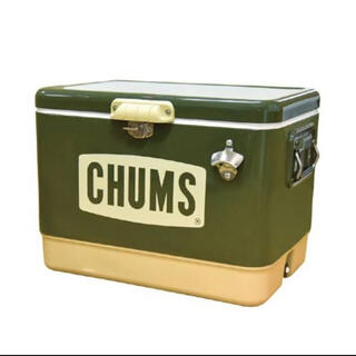 CHUMS - CHUMS  チャムス スチールクーラーボックス54L カーキ 新品未開封