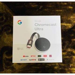 グーグル(Google)のGoogle Chromecast Ultra 4k クロームキャスト ウルトラ(映像用ケーブル)