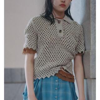 トーガ(TOGA)の¥46,200 新品未使用 シルク カギアミニットTOPS:ニット 半袖 襟(ニット/セーター)