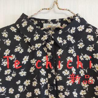 Techichi - 新品 Te chichi テチチ レトロフラワー 襟付き半袖ブラウス