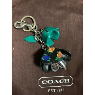 コーチ(COACH)の美品 coachバッグチャーム キーホルダー フラワー(バッグチャーム)