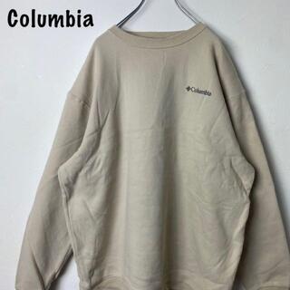 コロンビア(Columbia)のコロンビア ワンポイント刺繍 スウェット トレーナー ゆるだぼ XL ベージュ(スウェット)