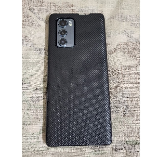LG Electronics(エルジーエレクトロニクス)のLG Wing 5G ブラック スマホ/家電/カメラのスマートフォン/携帯電話(スマートフォン本体)の商品写真
