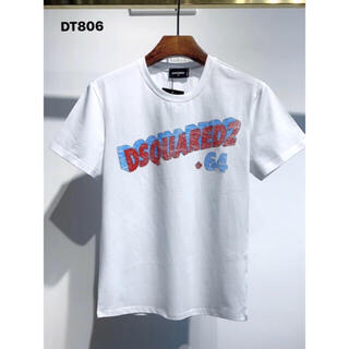 ディースクエアード(DSQUARED2)のDSQUARED2  DT806 ホワイト メンズTシャツ M-3XL(Tシャツ(半袖/袖なし))